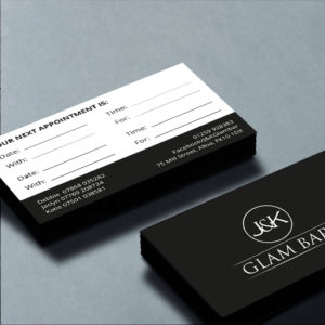 JK Clam Bar business card